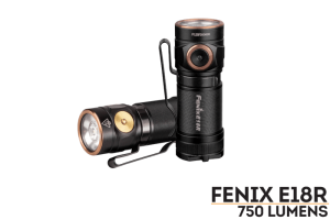 FENIX E18R LED FLASHLIGHT BLACK